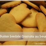Dans la catégorie biscuits de noël (Bredele), je demande les butter bredele (les biscuits au beurre)