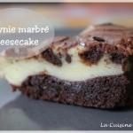 Brownie marbré au cheesecake, la gourmandise à tous les étages !