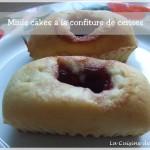 Minis cakes à la confiture de cerise (recette de base de la pâte à muffins)