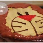 Gâteau lion, ou comment faire un gâteau rigolo pour un enfant sans pâte à sucre !