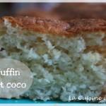 Muffins moelleux tout coco (à la noix de coco et coeur fondant de coco)
