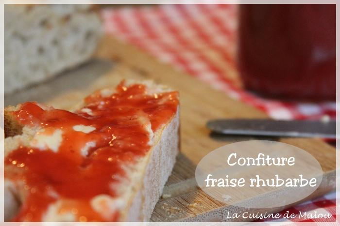 Confiture Rhubarbe Fraise La Confiture De Saison Thermomix La