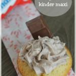 Les cupcakes aux maxi kinder, un vrai plaisir enfantin !