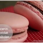 Macaron chocolat noir et framboise, le mariage parfait ! (spécial fête des mères)