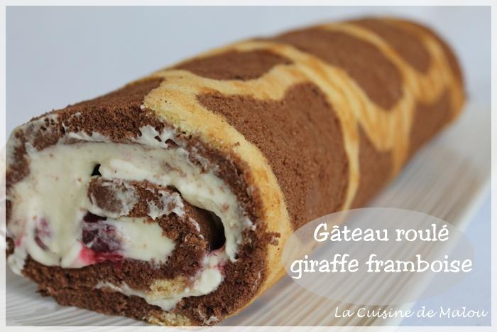 recette-gâteau-roulé-giraffe-framboise