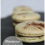 Macaron chocolat noir banane