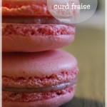 Macarons à la fraise (au curd à la fraise)