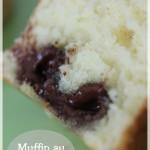 Muffins au lindor chocolat noir et blanc