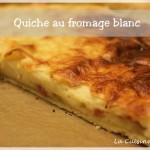 Quiche au fromage blanc, jambon et gruyère : la pseudo quiche lorraine !