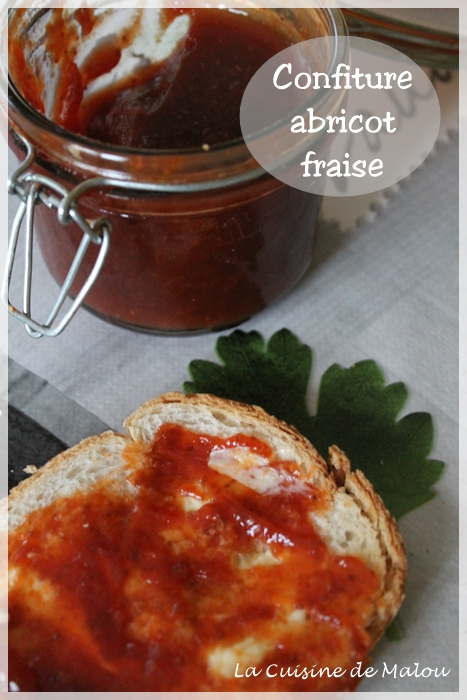 confiture abricot fraise rhubarbe