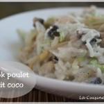 Le wok au poulet et crème de coco, la douceur à l'asiatique !
