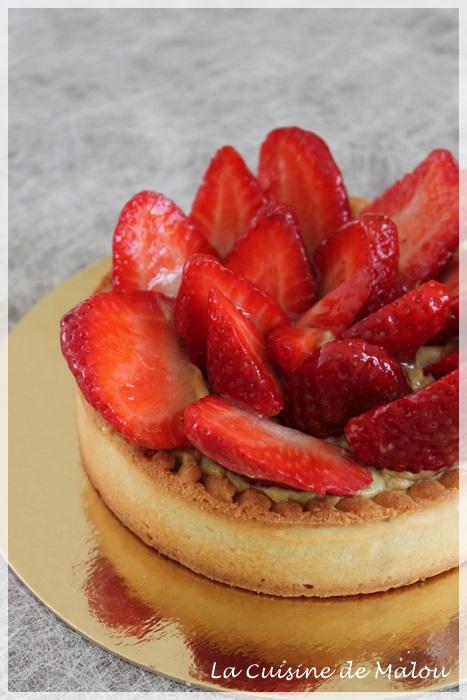tarte-fraise-crème-amande-pâtissière-pistache