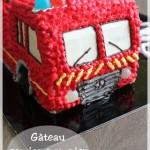 Gâteau Camion pompier (tutoriel)