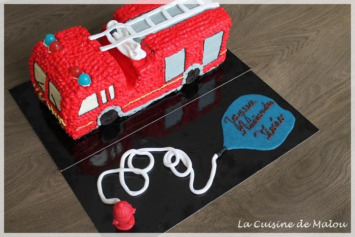 G 226 Teau Camion Pompier Tutoriel La Cuisine De Malou