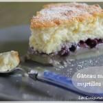 Gâteau magique à la myrtille et vanille
