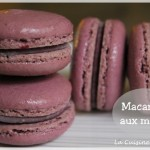 Macarons aux mûres et chocolat blanc