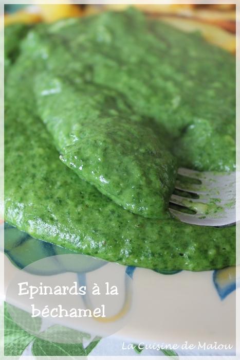 Epinard en b chamel ou comment faire appr cier les pinards toute la famille la cuisine de malou - Comment faire bechamel ...