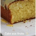 Cake aux fruits de la passion et son glaçage chocolat blanc exotique