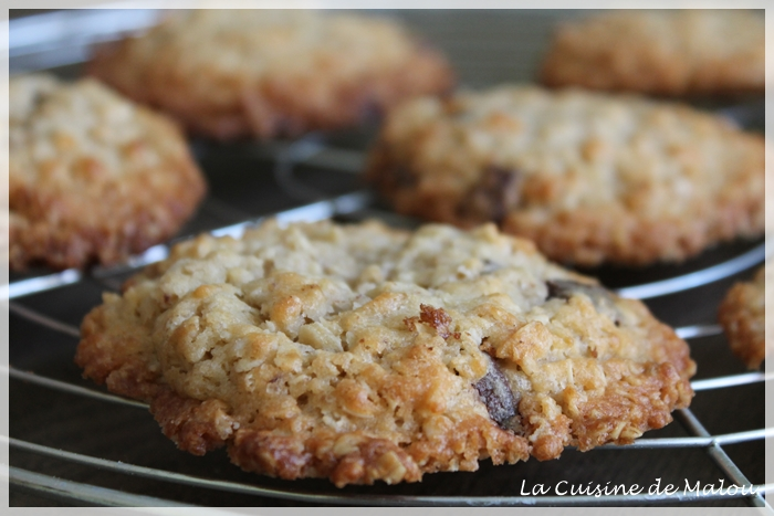 recette-cookies-croustillants-flocons-d'avoine-chocolat