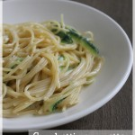 Spaghettis express à la courgettes et fromage de chèvre