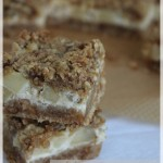 Crumble cheesecake barres aux pommes : entre crumble et cheesecake !