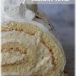 Bûche à la crème pâtissière vanille